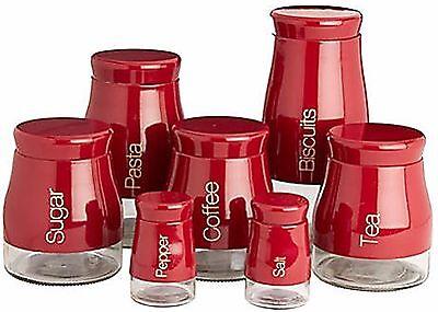 Sabichi Tarro de Galletas Rojo Brillante Sal Pimienta Tarro De Pasta Té Café Azúcar Oslo