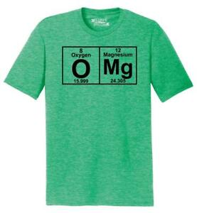 edf27d0f189 Mens OMG Periodic Table Funny Science Geek Shirt Tri-Blend Tee ...