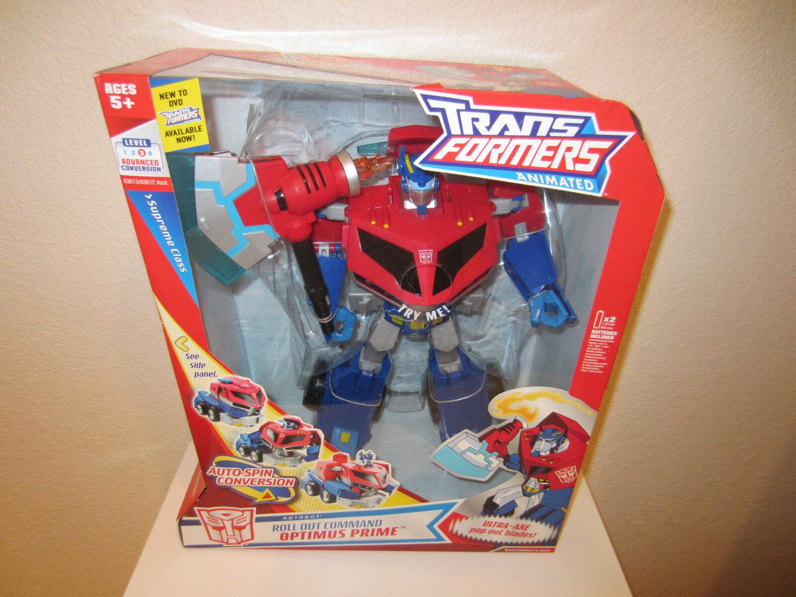 Figurine Transformers Supreme Classe animées Autobot Optimus Prime 2007 NEUF