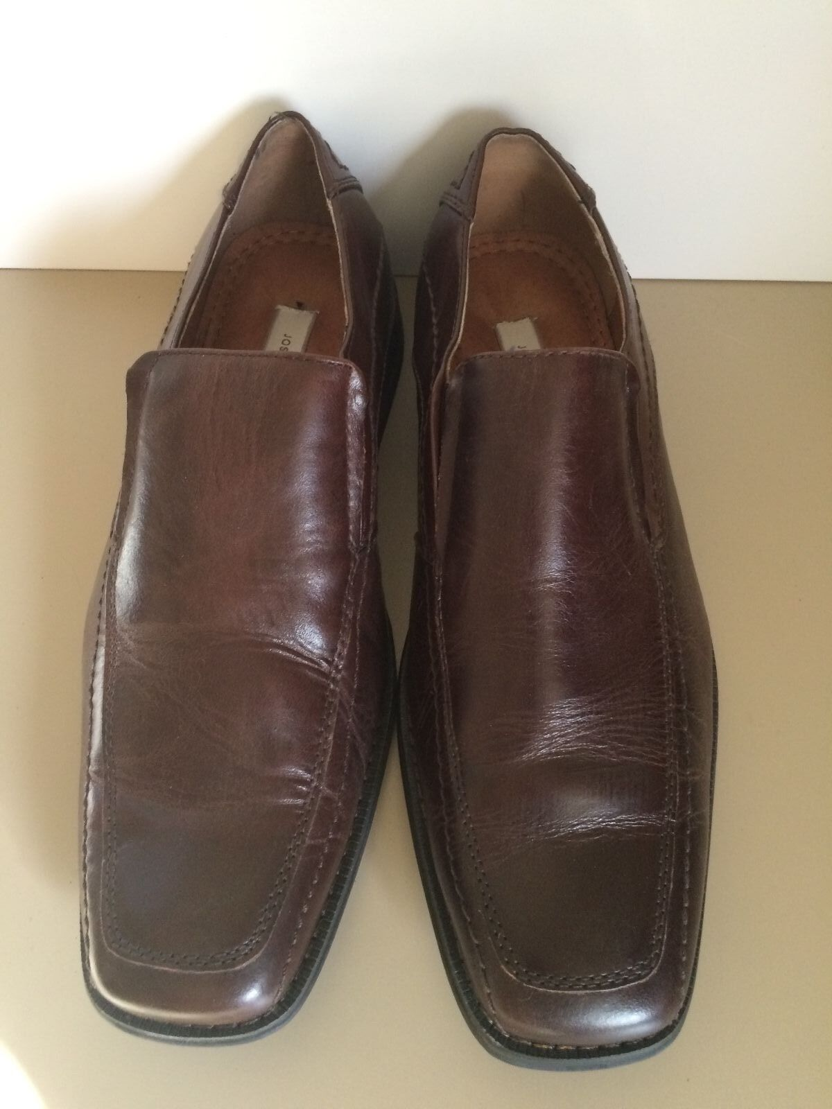 Joseph Abboud 8.5 M Shoes Brown Leather Split Toe Oxfords Lace Up Mens