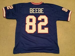 75690325a75 Image is loading UNSIGNED-CUSTOM-Sewn-Stitched-Don-Beebe-Blue-Jersey-