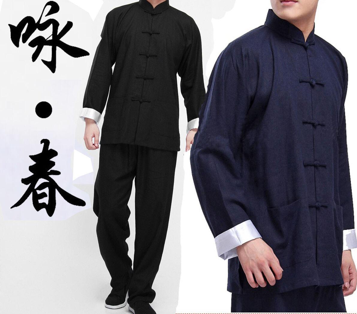 Comile  nese Kung Fu Wing Chun Suits Martial Tai   Uniform Bruce Lee Costume