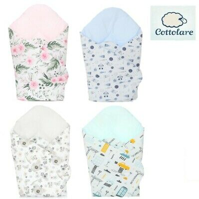 Minky Baby Newborn Soft Swaddle Wrap Sleeping Bag Cotton Rozek