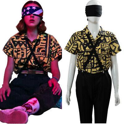 Stranger Things Season 3 Eleven Cosplay Costume Battle Suit Shirt Only Halloween Ebay