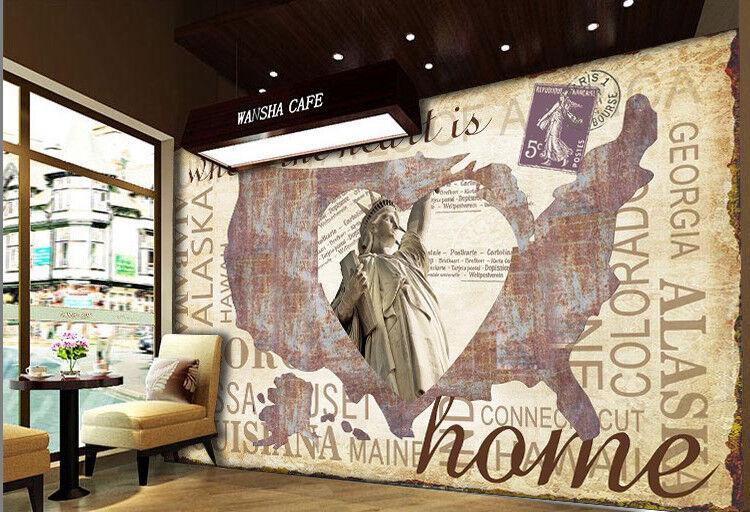 3D Statue Liberty 77 Wall Paper Murals Wall Print Wall Wallpaper Mural AU Kyra