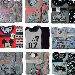 ea3f068c1afc Ladies Fleece Pyjamas DISNEY Womens Girls Nightwear Cosy PJ Sets ...