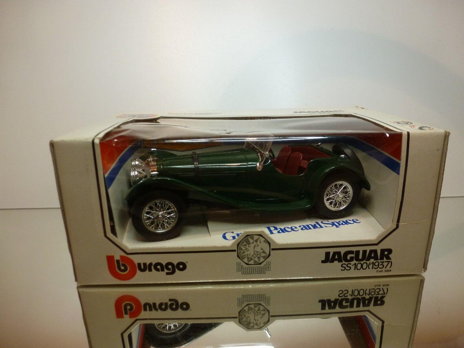 BBURAGO 3006 JAGUAR SS100 - 1937 - verde 1 18 - EXCELLENT IN BOX