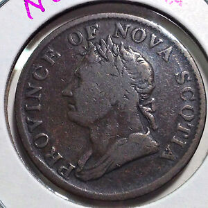 CANADA-1832-PROVINCE-OF-NOVA-SCOTIA-HALF-PENNY-TOKEN-BEAUTIFUL-COIN