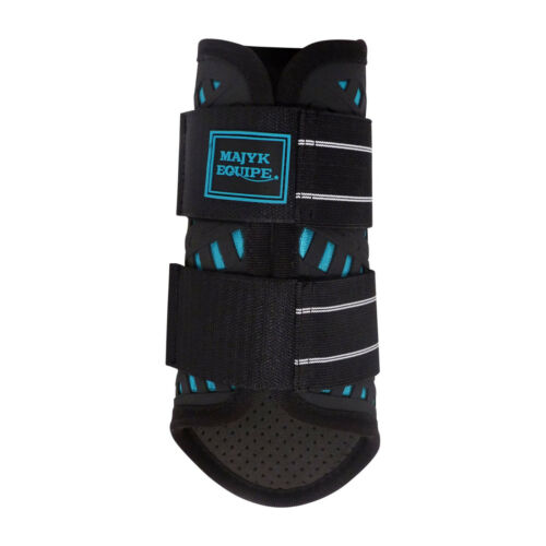 Majyk EQUIPE 4 Couche Maille Sport Dressage Impact Boot Noir//Blanc//Violet//Turquoise