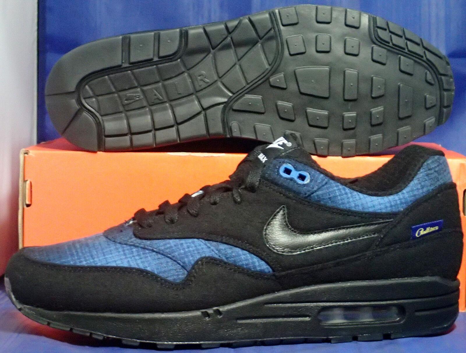 Nike Air Max Bleu 1 Premium Pendleton Id Noir Bleu Max Sz 11 744453-991 aa0fca