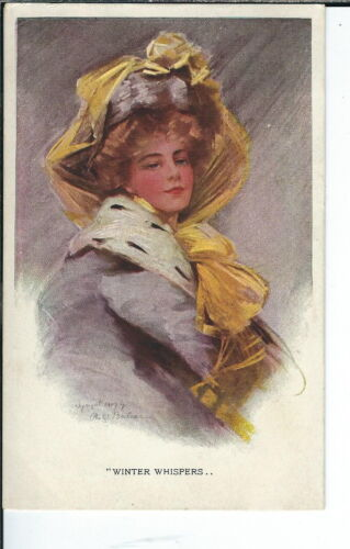 AX070 Winter Whispers, Artist Philip Boileau 19071915 Golden Age Postcard