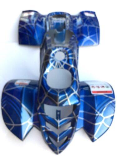ATV Quad Body Plastic fender Taotao ATA110B 110cc Blue spider w// warning sticker