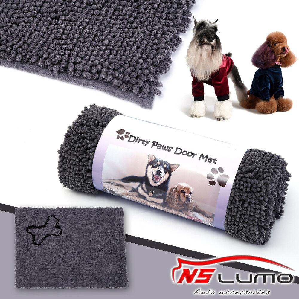 grau Large Doormat Dog Rug Door Mat Microfiber Home Outdoor For Cleaning Dirty