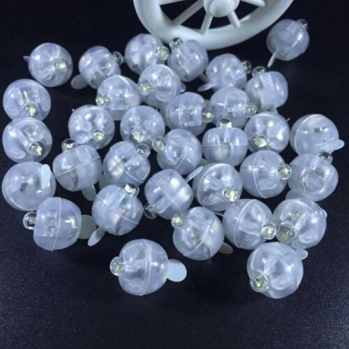 100pcs//set LED Mini Round Ball Balloon Flash Ball Lights For Party Lantern Decor