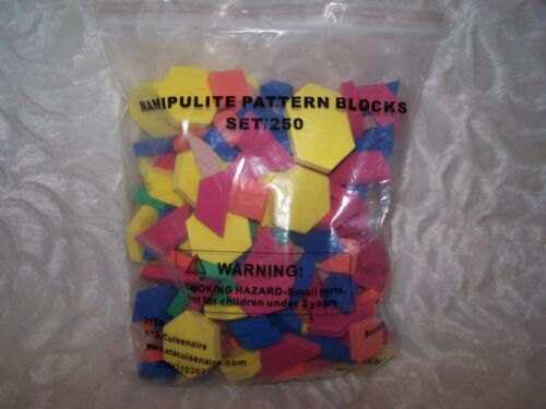NEW Manipulite Pattern Blocks Set of 250 pieces. Great Deal