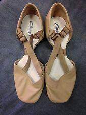 Capezio 322 Tan Women's Size 7.5 Medium X-Strap Pedini Jazz Lyrical Shoe