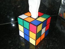 RUBIK'S CUBE STYLE TISSUE BOX COVER- BIG BANG THEORY-RUBIX MAPPED