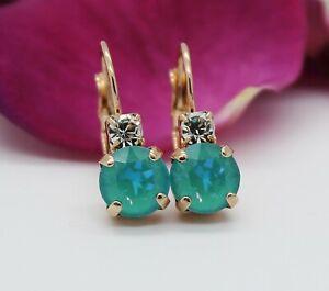Rose-Gold-Plated-Laguna-DeLite-Leverback-Earrings-with-Swarovski-Crystal-Element