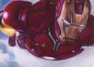 IRON-MAN-Tony-Stark-AVENGERS-Robert-Downey-Jr-SKETCH-Card-PRINT-1-of-15-ART