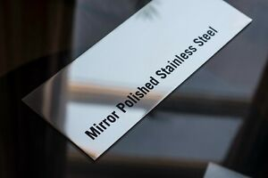 Sheet Metal Mirror Polished Stainless Steel Sheet In Grade 304 1 5mm Thick Ebay