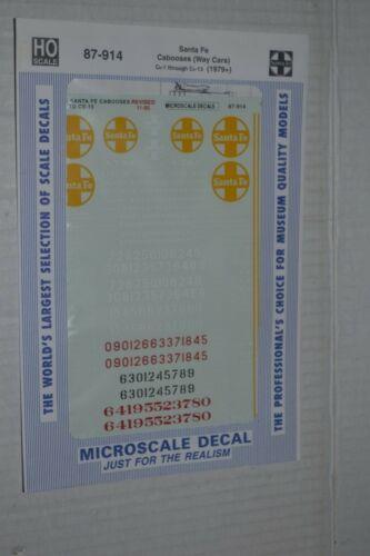 Microscale Decal 87-914 Santa Fe Cabooses Way Cars 1979+