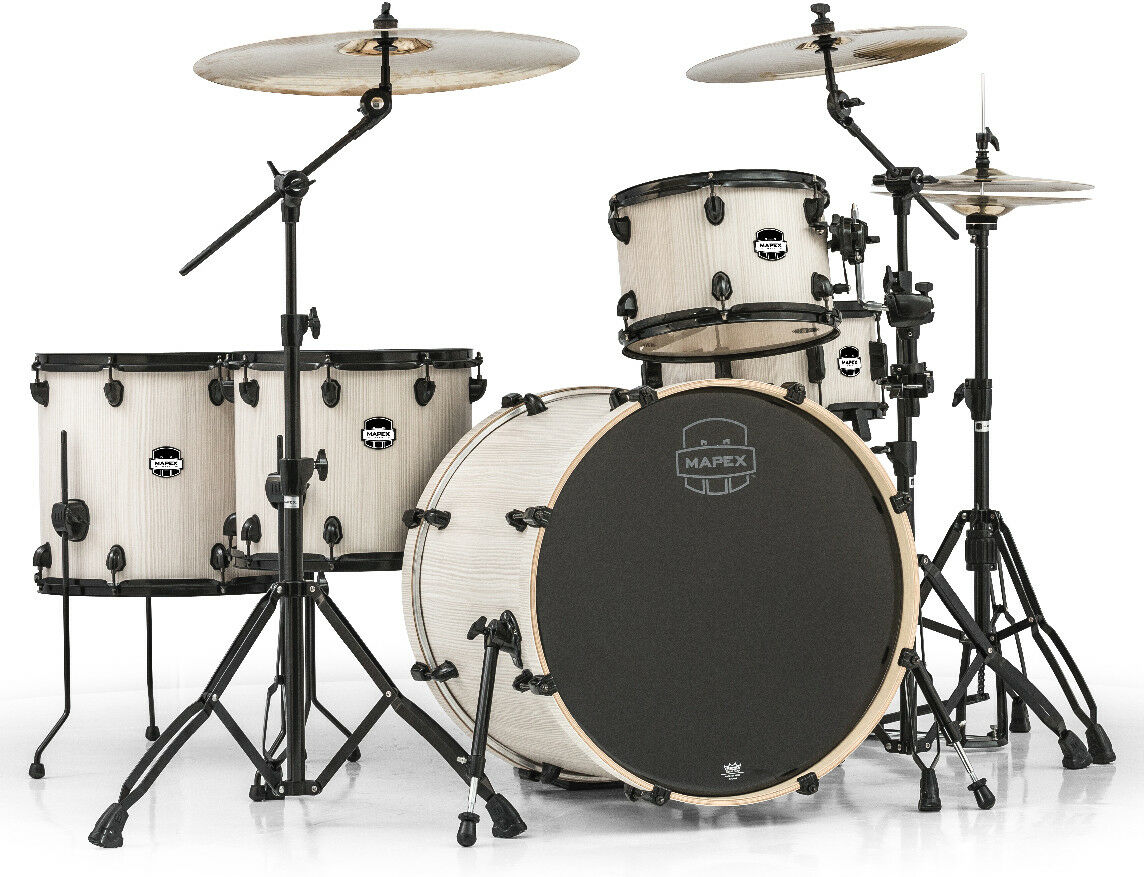 Mars 5-Piece Crotver Drum Set (Bonewood (AW)) schwarz Plated (B)