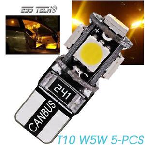 Ampoule-T10-W5W-5-pieces-blanc-chaud-3000K-Canbus-ESS-TECH-SMD5050-168-194-5Pcs