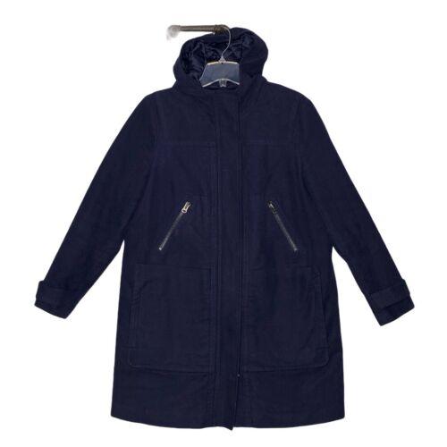 Boden Coat Size 16 Navy Blue Zip Front 4 Zip Pocke