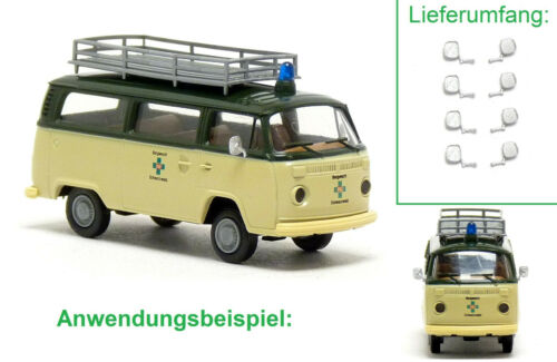 Mickon 90081 8x espejo exterior adecuado para Wiking//Brekina VW t2 furgoneta 1:87 h0