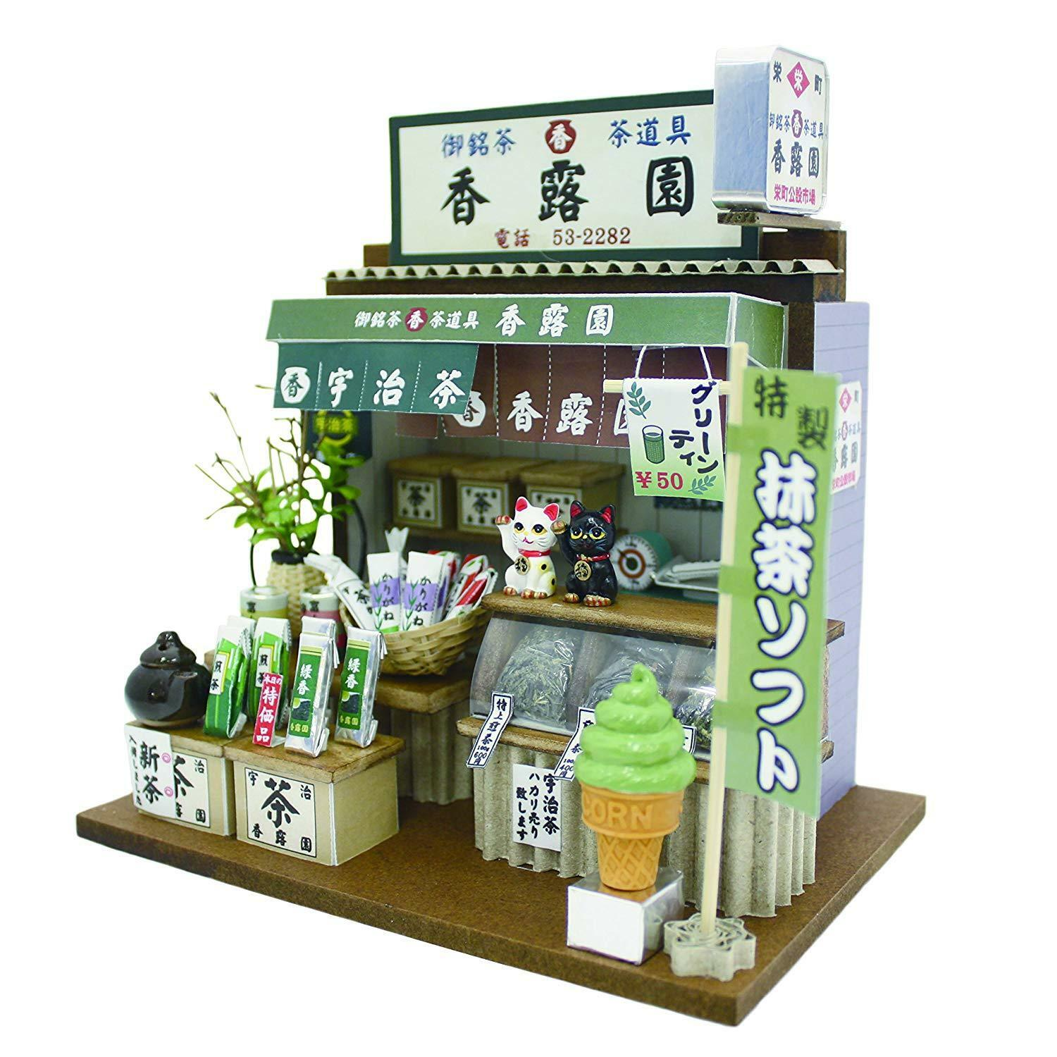 Doll House Miniature Model Kit Figure Handcraft Japanese Tea Shop Billy