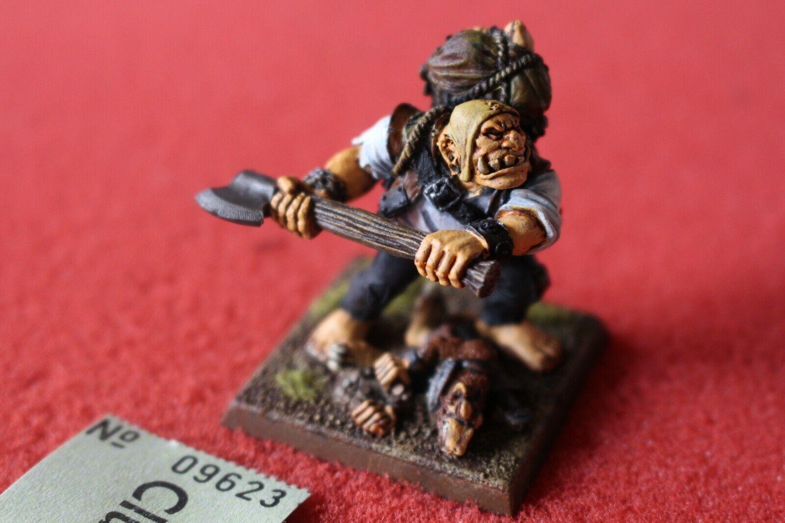 Games Workshop Mordheim Ogre Ogre Ogre Bodyguard Ogres Well Painted Skaven Casualty Base 9fabc6