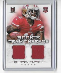 2013 MOMENTUM NFL FOOTBALL ROOKIE CARD RC QUINTON PATTON DUAL ...