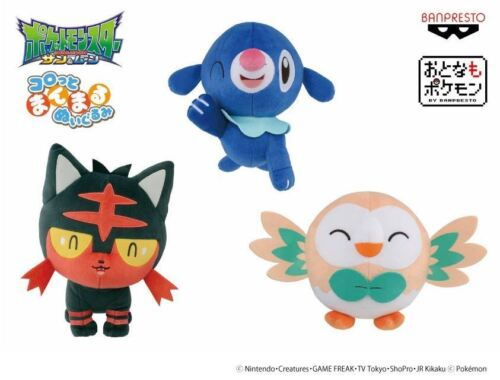 PELUCHE POKEMON GO SOLE E LUNA 23 CM SUN /& MOON AND PLUSH ROWLET POPPLIO LITTEN