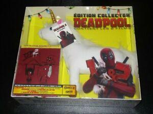 Deadpool-1-amp-2-Limited-Edition-SteelBook-Blu-Ray-Plush-Unicorn-Import-Sealed