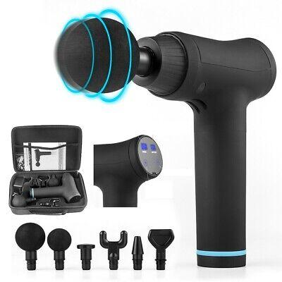 Ultra Massage Gun Percussion Massger Deep Muscle Vibrating Gun Smart Touch +Case
