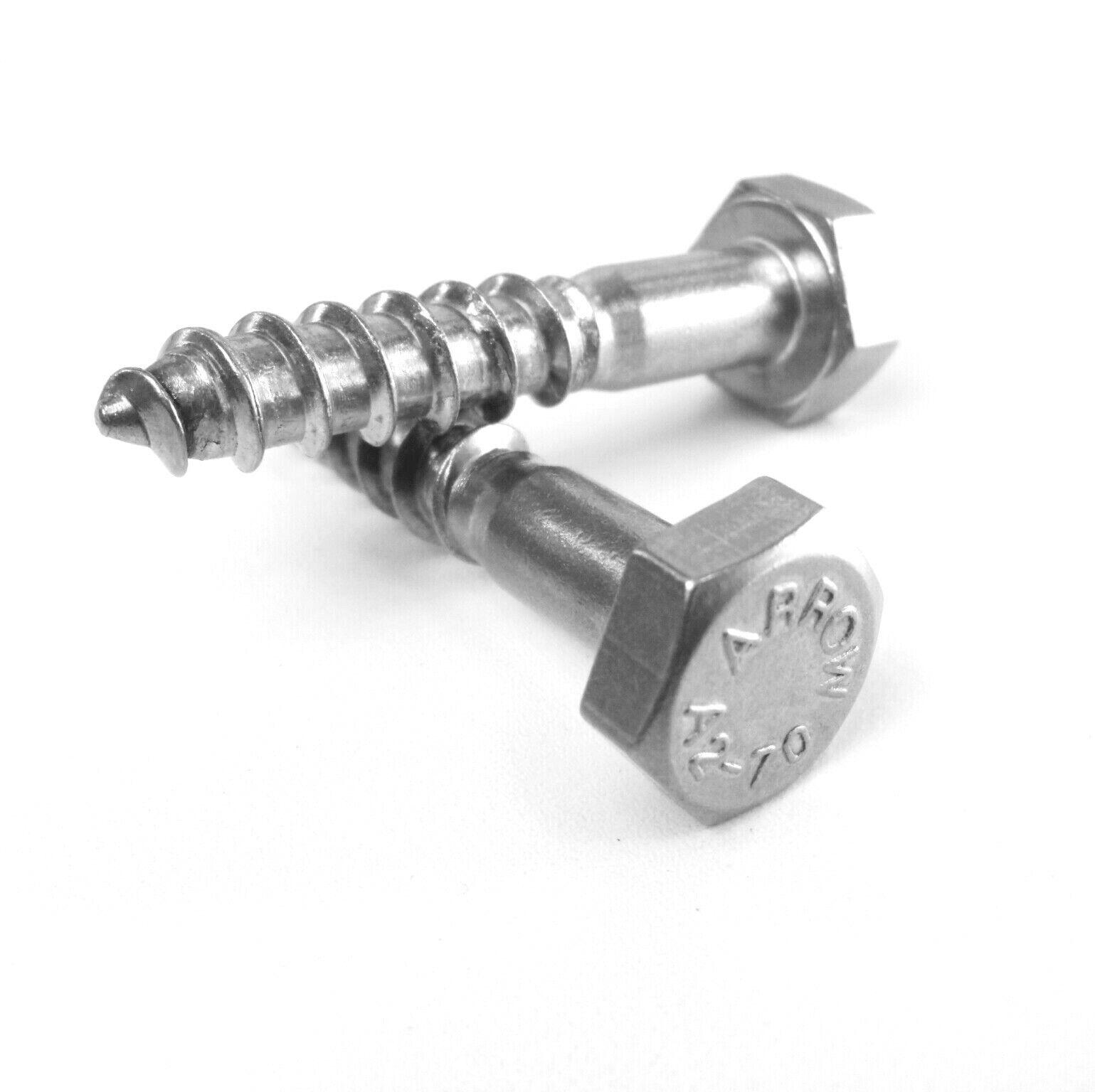 50 Stück 5X20 Sechskant Holzschrauben DIN 571 V2A A2