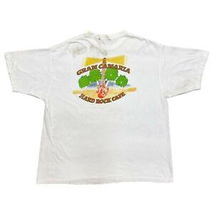 Hard Rock Cafe Gran Canaria Tshirt Vintage 90s Music Souvenir White 2xl Vtg Ebay