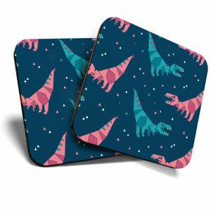 2 X Coasters Blue Pink Cartoon Dinosaurs Home Gift 8811 Ebay