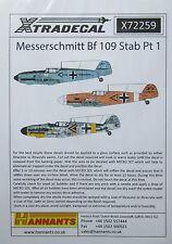 Xtradecal 1/72 X72259 Messerschmitt Bf109 Stab Decal set pt 1