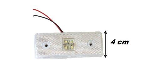 8 pcs 12V SMD LED FRONT SIDE WHITE CLEAR MARKER LIGHT LAMP TRAILER HORSEBOX VAN