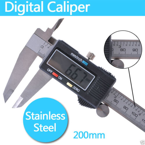 """6//8//12/"""" Hi-Tech Electronic Digital Vernier Caliper Micrometer Large LCD Display"""