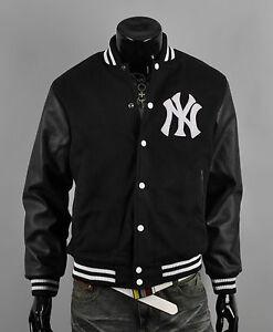 ny7 New york yankees custom logo baseball letterman varsity wool ...