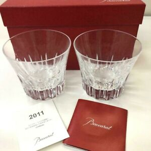 RARE-Baccarat-Pair-Lowball-Glass-Limited-Edition-Etna-2011-from-Japan