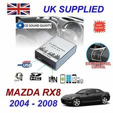 For MAZDA RX8 MP3 SD USB CD AUX Input Audio Digital CD Changer Module 04-08