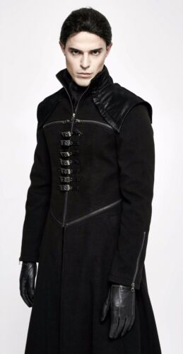Gothique Manteau Militaire Sangle Steampunk Zip Évasé Punkrave Outlet Homme Punk d5qSCt