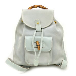cfafd273859 Image is loading Authentic-Gucci-Bamboo-Suede-Vintage-Backpack-Daypack-Bag-