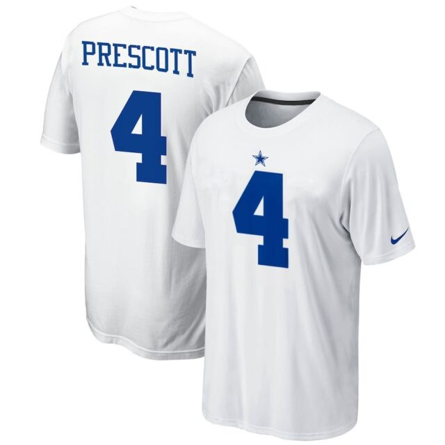 7648179bd Dak Prescott jersey t-shirt Dallas Cowboys YOUTH medium NEW WITH TAGS! NFL  white
