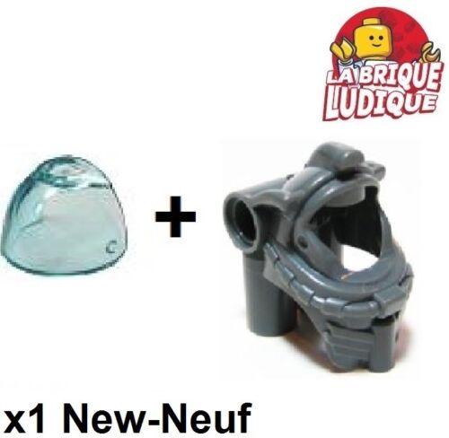 visiera grigio f//d b gray 87754 Lego 1x elmetto casco sott/'acqua pieno fiore