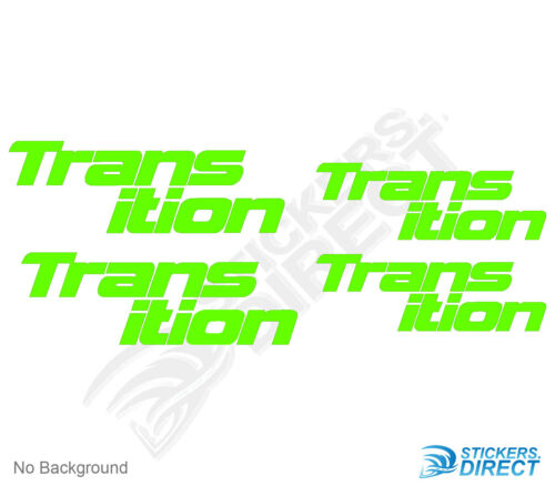 Transition Bike Stickers Set of 4 Frame Replacement Cycling Decals DH MTB TR