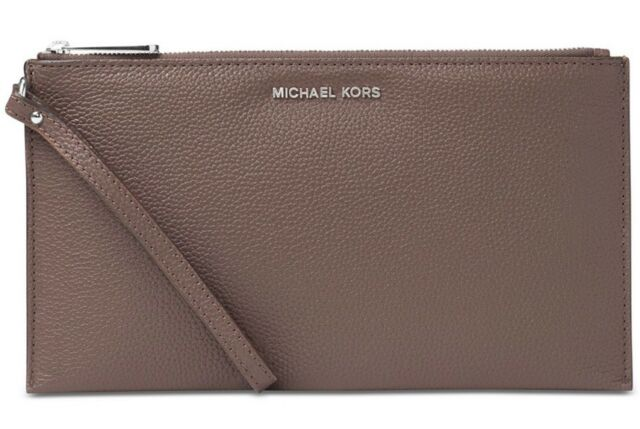 515923669c3 Michael Kors Large Zip Clutch Wristlet Wallet Leather Studio Mercer ~NWT  $98~